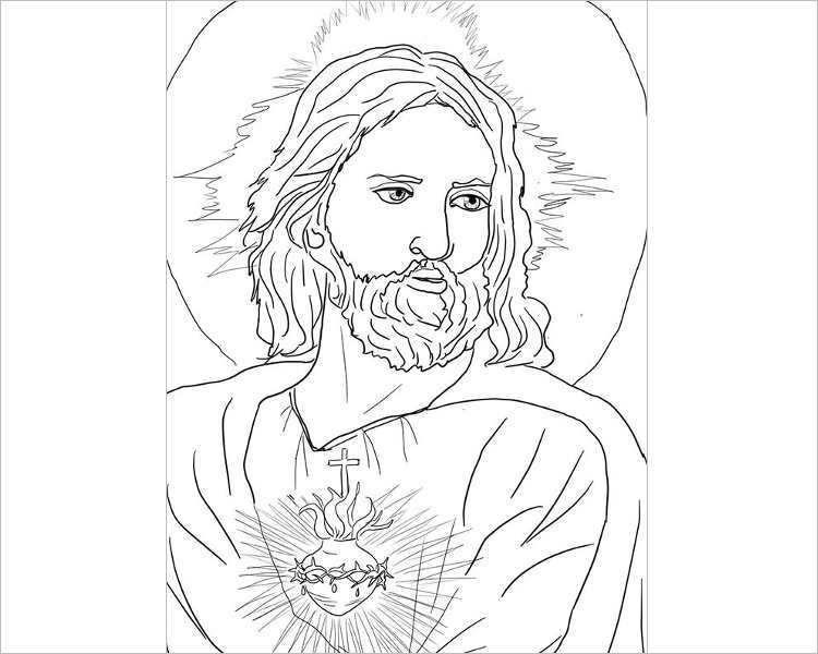 sacred-heart-of-jesus-coloring-page-template