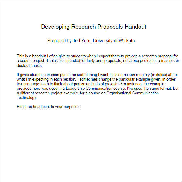 sample business research proposal template