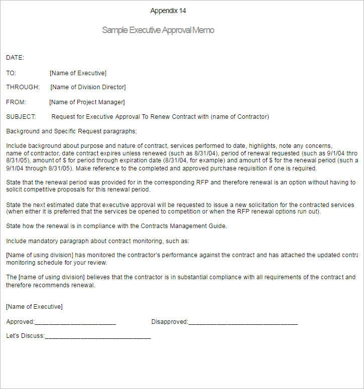 6 Interoffice Memo Template Form Examples ...  Project Memo Template