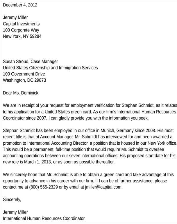 Employment Verification Letter Templates Free Premium – Sample of Proof of Employment
