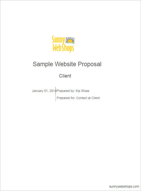 Website Proposal Sample Sample Proposal Letter For Website Design