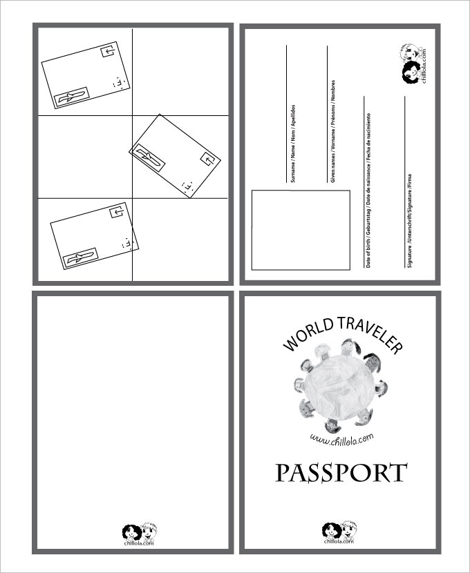 24 passport templates free pdf word psd designs for Passport picture template