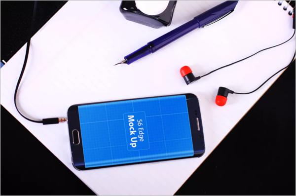 Samsung Galaxy S6 Mobile Mockup Template