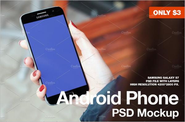 Samsung Galaxy S7 PSD Mockup Design