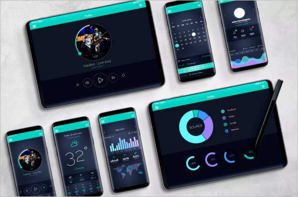 Samsung Mobile Mockup Bundle