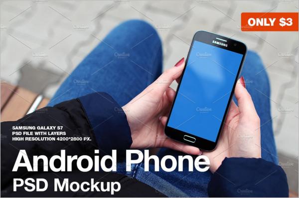 Samsung Mobile Photoshop Mockup Design