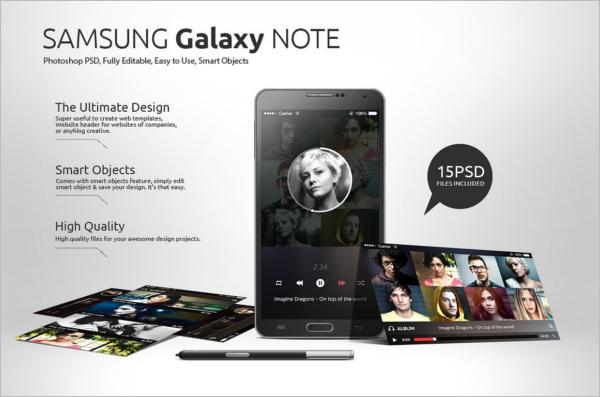 Samsung Note Mobile Mockup Design