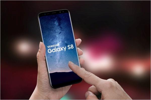 Samsung S8 Mobile Mockup Design