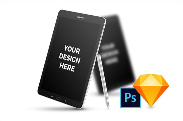 Samsung Tab Mockup Design