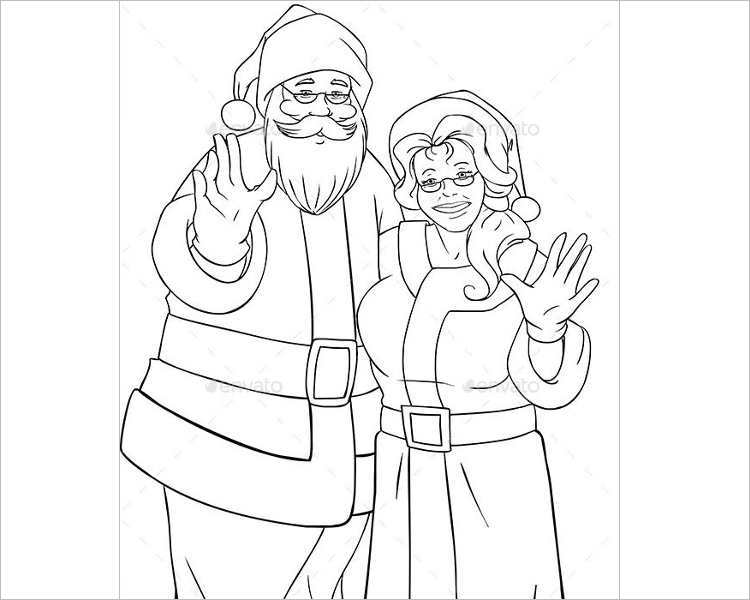 santa-mrs-claus-waving-print-template