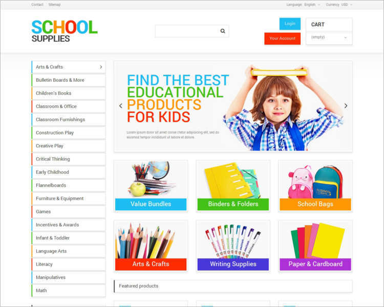 school-supplies-prestashop-theme-template