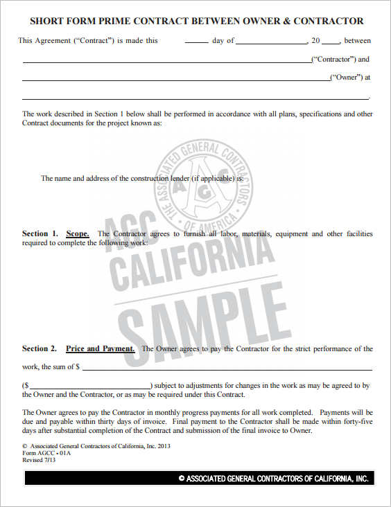 short-form-construction-contract-template