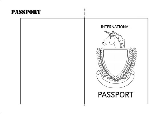 Make your own passport template gallery template design for Passport picture template