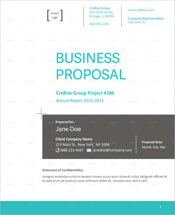 simple business proposal template form