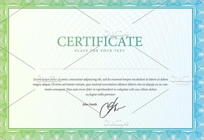 Simple Stock Certificate Template