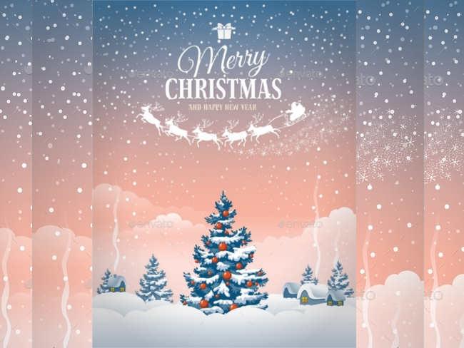 snowfall-christmas-greeting-card