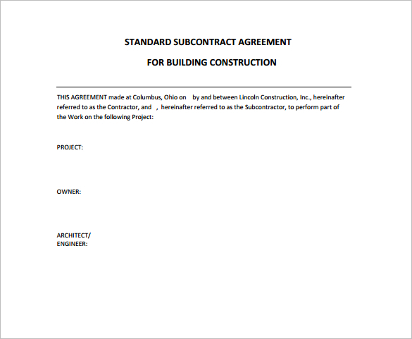 standard-construction-contract-form-template