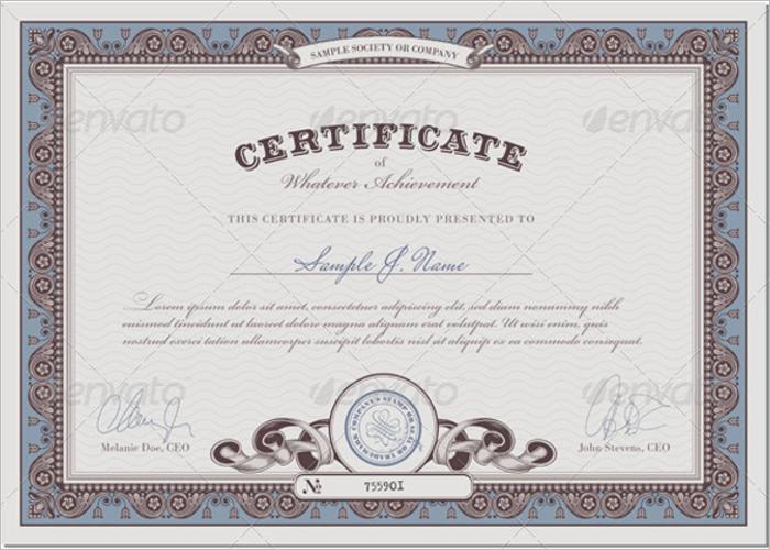 Stock Certificate Border Template