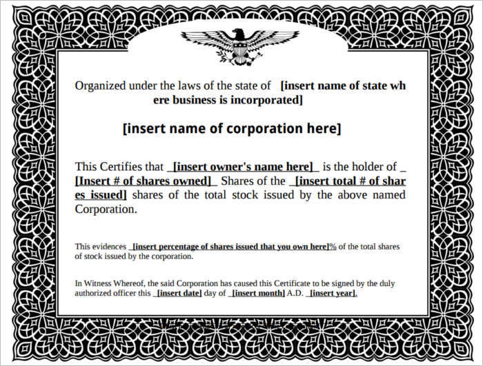 Stock certificate template free word form pdf excel pdf stock certificate form free download template yadclub