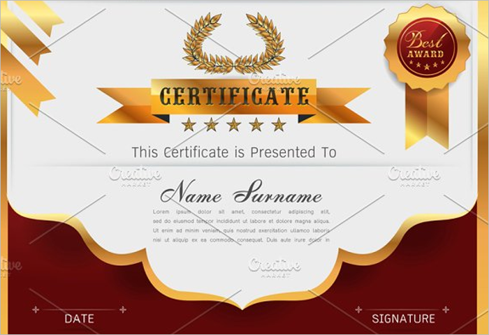 Stock Purchase Certificate Template