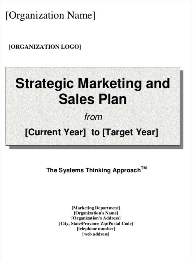 Sales Plan Template Free Word Form PDF Documents – Template for Sales Plan