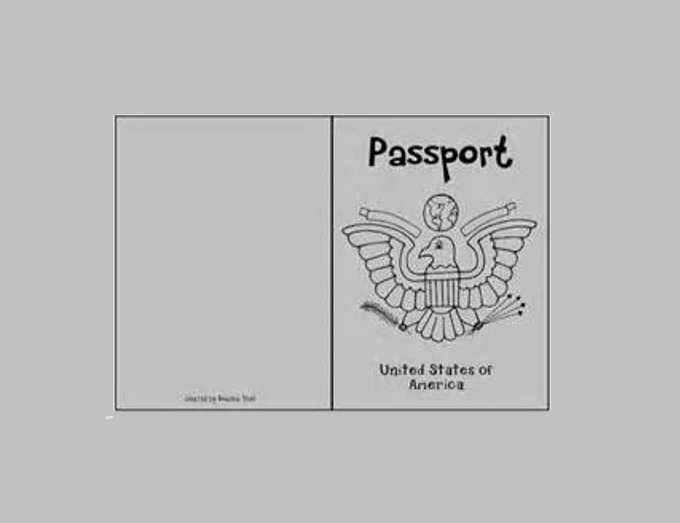 Student Activity Printable Passport Templates ...  Free Passport Template For Kids