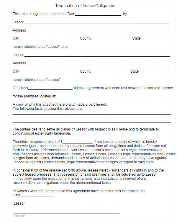 termination-of-lease-obligation-form-template