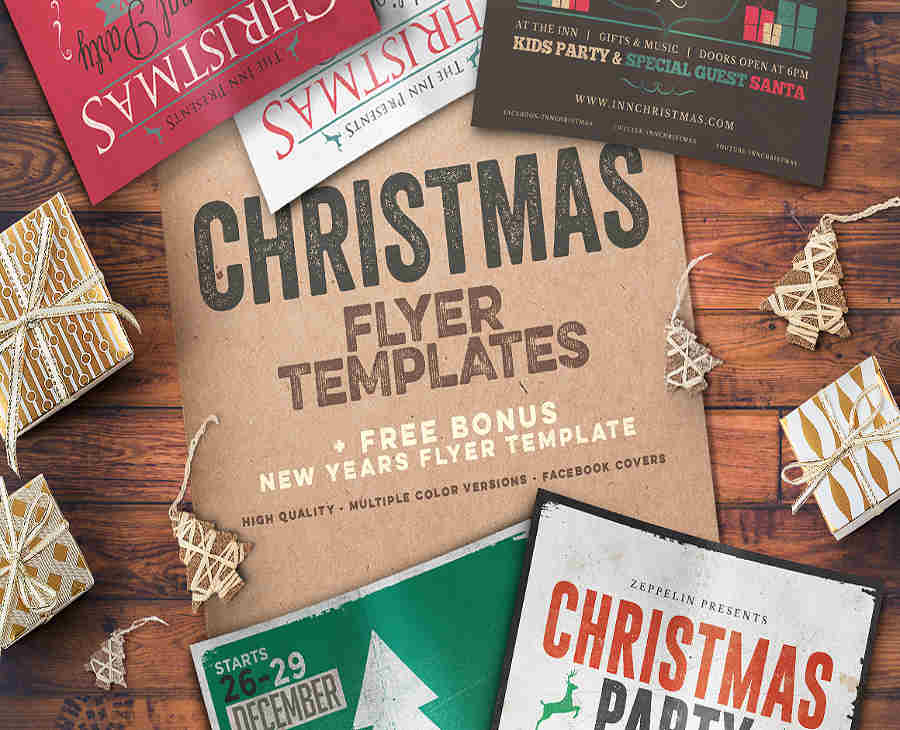 typography-christmas-event-template