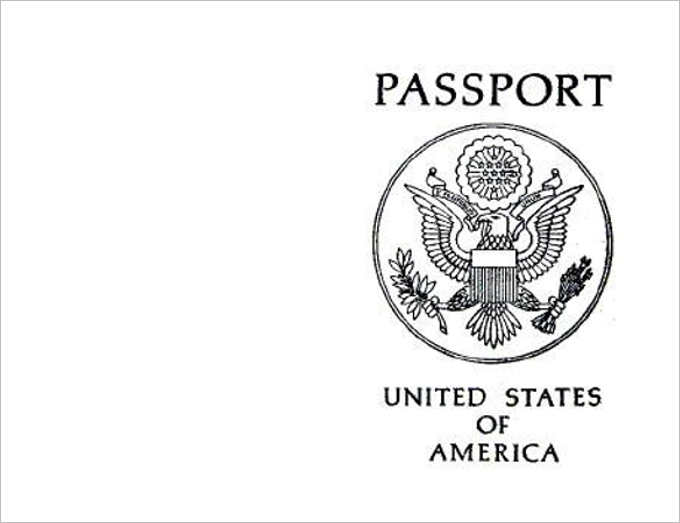 USA Passport Printable Templates ...  Free Passport Template For Kids