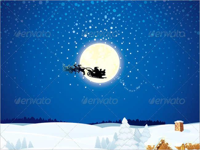 vector-christmas-santa-sleigh-idea-template
