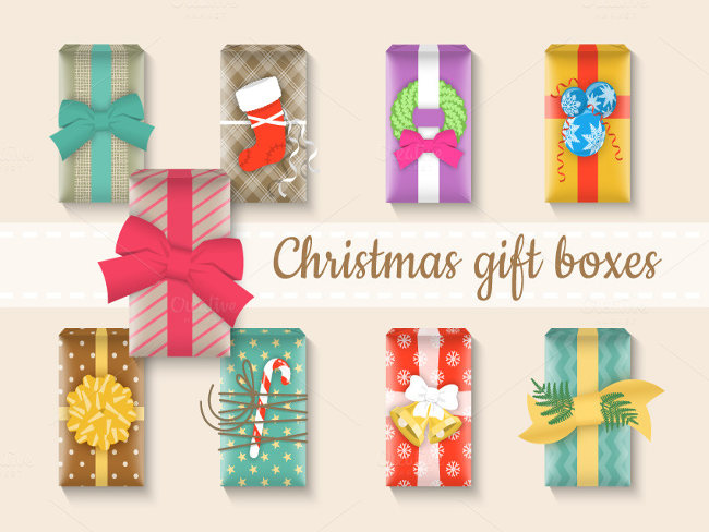 Wrapping Christmas Celebration present box