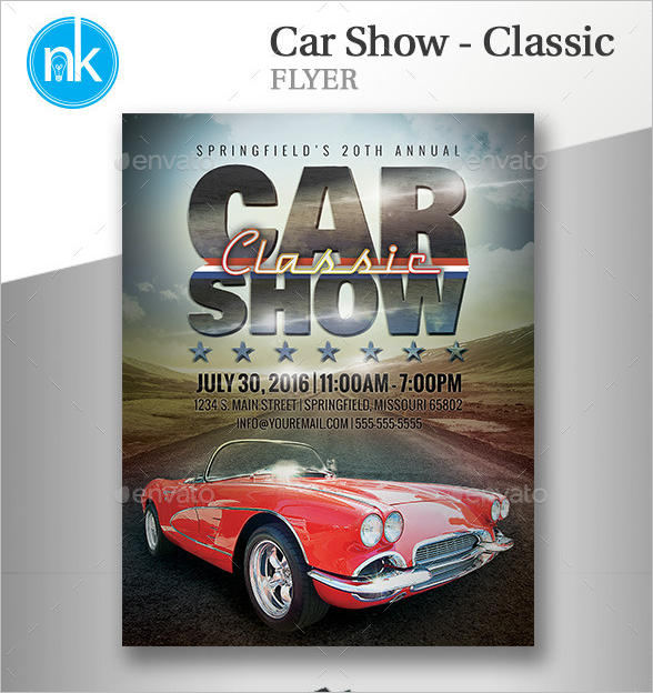 Car Show Flyer Templates Free Images PSD Documents – Car Flyers