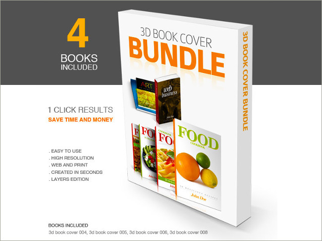 3d book cover bundle