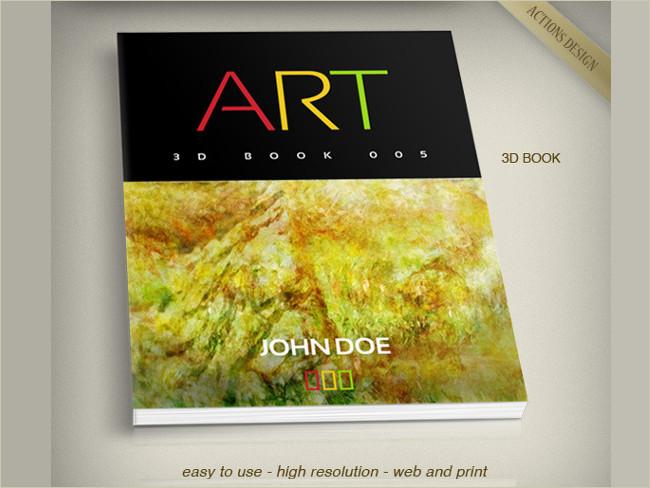 3d book cover mockup