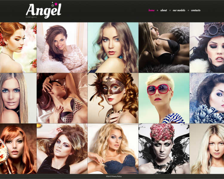 angel-model-agency-website-templates