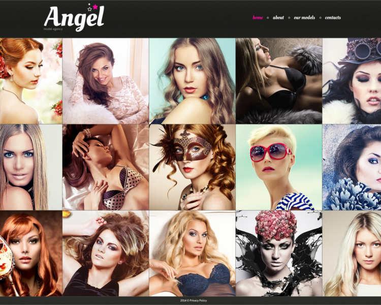 angel-model-agency-website-templates