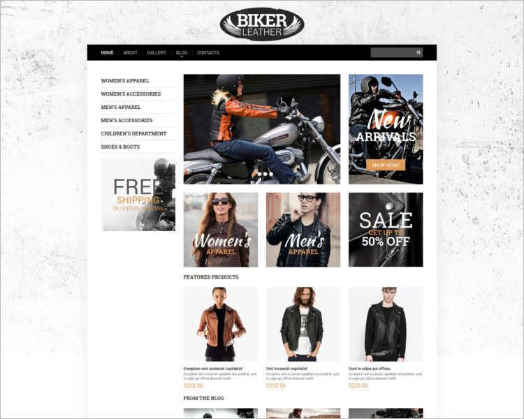 apparel-biker-website-templates