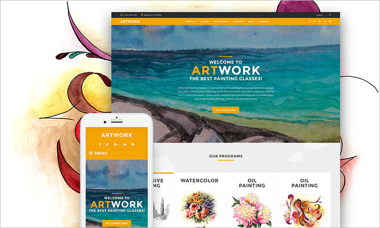 art-school-responsive-wordpress-theme