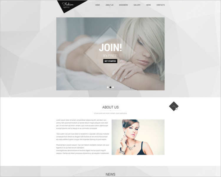 awesome-fashion-model-scout-website-templates