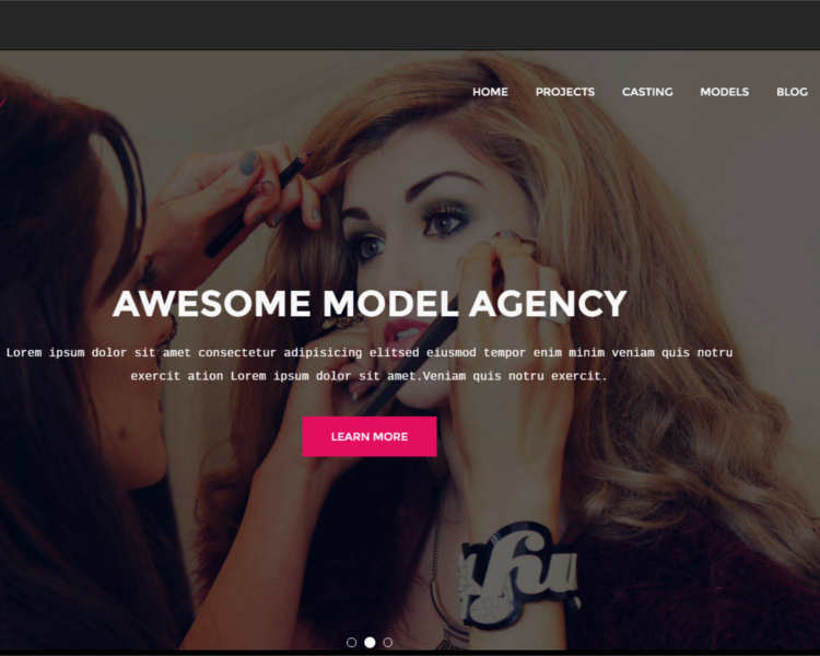 awesome-model-agency-website-templates