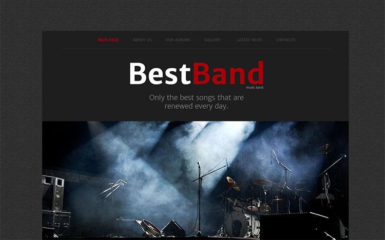 best-music-band-website-theme-templates