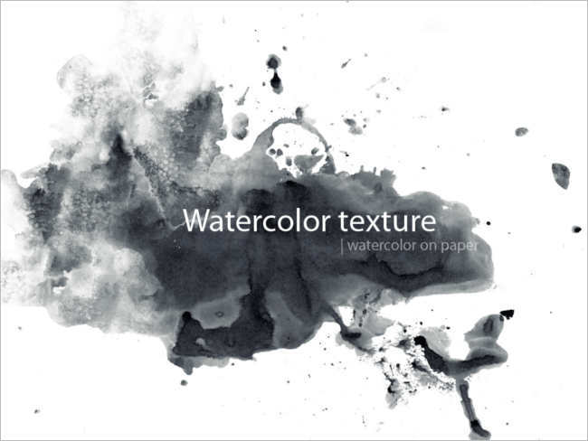 black-watercolour-texture-on-paper