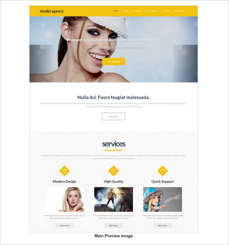 blog-model-agency-website-templates
