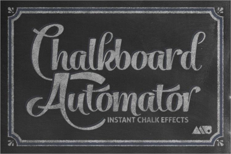 Chalkboard Art Mockup Design