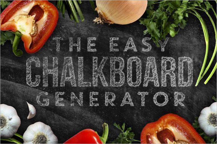 Chalkboard Gnerator Mockup Design