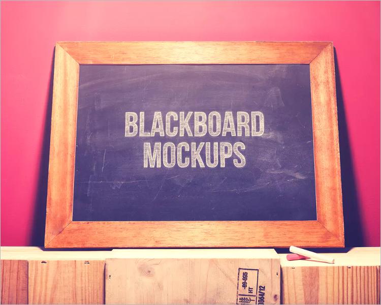Chalkboard Mockup Design PSD