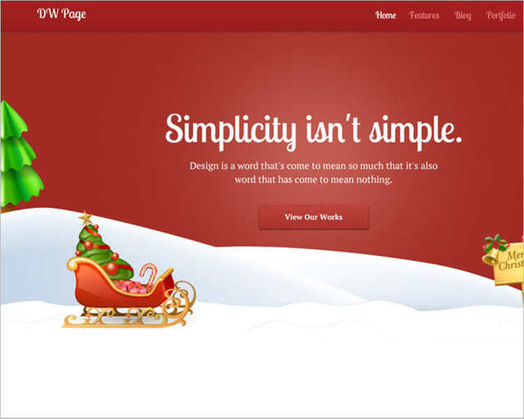 christamas-onepage-worpress-templates