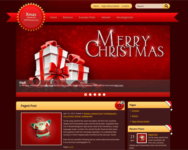 christmas-paged-post-wordpress-theme-templates