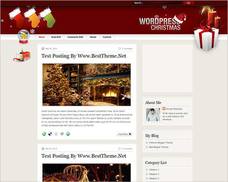 christmas-photography-blogger-theme-templates