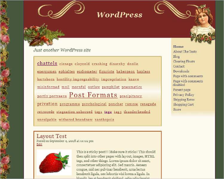 christmas-victorian-wordpress-theme-templates
